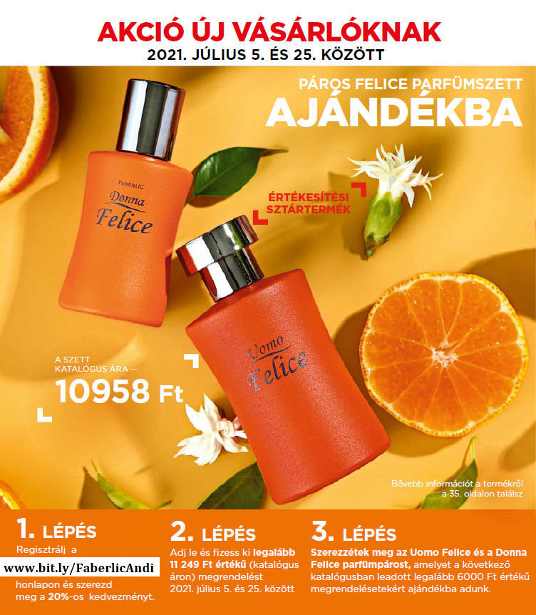 Faberlic ajándék parfüm